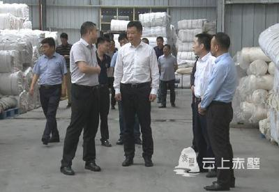 V视 I蒲纺工业园区企业建设进展如何?市长董方平提出三点要求
