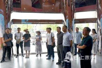 快讯 内蒙古通辽市奈曼旗委宣传部组团参观学习赤壁市融媒体中心建设工作