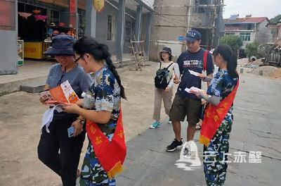 赤壁大学生志愿者宣讲队送消防知识进万家