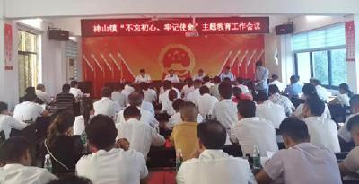 """神山镇围绕""""五个目标""""扎实推进主题教育活动"""