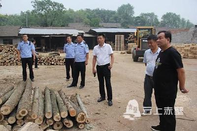 """赤壁扎实开展""""昆仑5号""""行动 整治木材市场"""