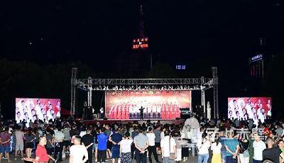 """庆祝中华人民共和国成立70周年 赤壁市""""我和我的祖国""""暨""""不忘初心、牢记使命""""大型群众性合唱比赛启幕"""