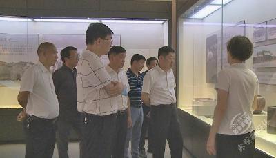 咸宁市政协领导调研赤壁大健康产业