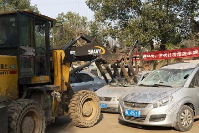 赤壁交警:集中销毁报废车辆 整治交通顽瘴痼疾