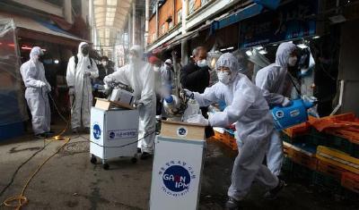 全球新冠肺炎确诊病例超59万     美国确诊病例破10万