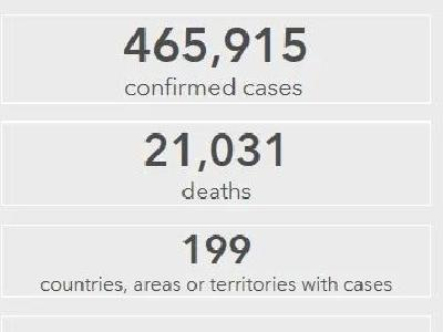 全球确诊病例超46万例