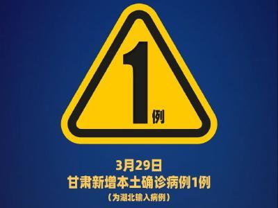 昨日,甘肃新增湖北输入确诊病例1例,行动轨迹信息公布