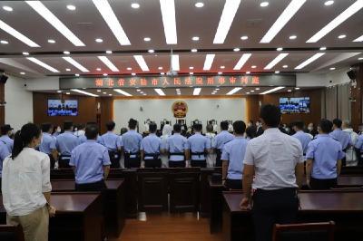 【扫黑除恶】安陆法院公开宣判许某胜等12人涉黑案,首犯获刑二十五年