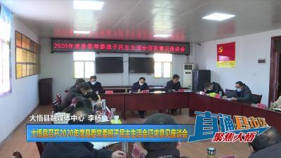 【直通县市区】大悟县召开2020年度县委常委班子民主生活会征求意见座谈会