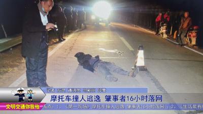 摩托车撞人逃逸   肇事者16小时落网