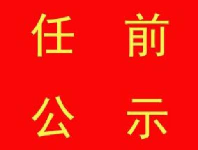 中共咸宁市委组织部干部任前公示