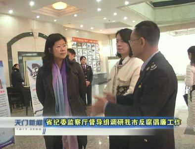 视频   省纪委监察厅督导组调研我市反腐倡廉工作