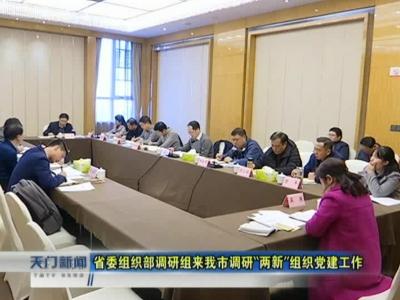 """视频丨省委组织部调研组来我市调研""""两新""""组织党建工作"""