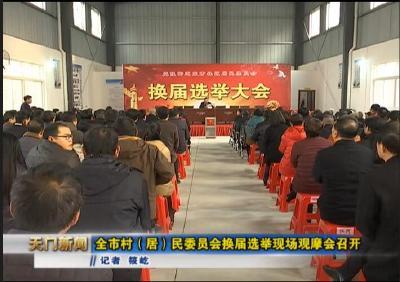 视频丨全市村(居)民委员会换届选举现场观摩会召开