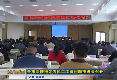视频丨全市治理拖欠农民工工资问题推进会召开