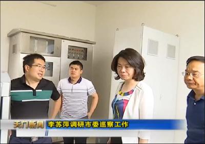 视频丨李苏萍调研市委巡察工作