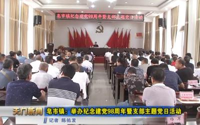 视频丨皂市镇:举办纪念建党98周年暨支部主题党日活动