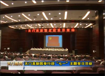 """视频丨天门高新园举行迎""""七一""""主题党日活动"""
