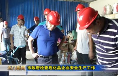 视频丨市政府检查危化品企业安全生产工作
