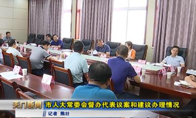 视频丨  市人大常委会督办代表议案和建议办理情况