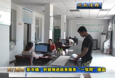"""视频丨问政追踪 彭市镇:积极推进政务服务""""一张网""""建设"""
