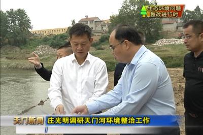视频丨生态环境问题整改进行时 庄光明调研天门河环境整治工作