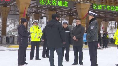 牟波督导冰雪天气交通安全工作