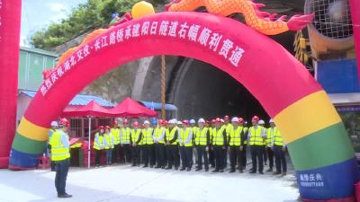 保神高速(神农架段)阳日隧道右幅顺利贯通