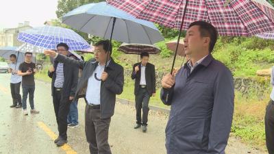 周森锋刘启俊调研督查松柏城镇环境综合整治工作