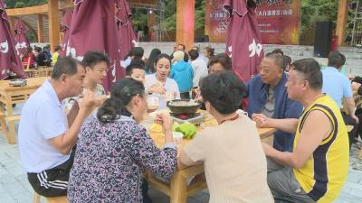 伏羊节持续进行  八方游客来大九湖赏节目吃羊肉喝羊汤