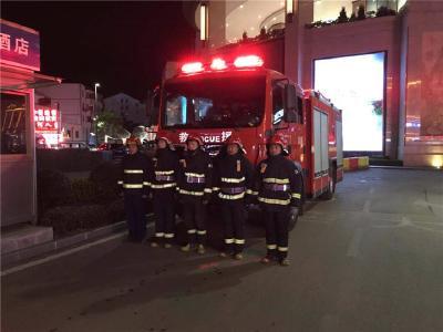 林区消防救援大队开展消防安全夜查行动