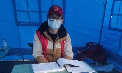 """95后志愿者尤玖柒 愿作战""""疫""""中的一束光"""