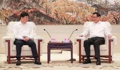 加快推进新基建、着力发展新经济!应勇王晓东与中国电信董事长柯瑞文座谈