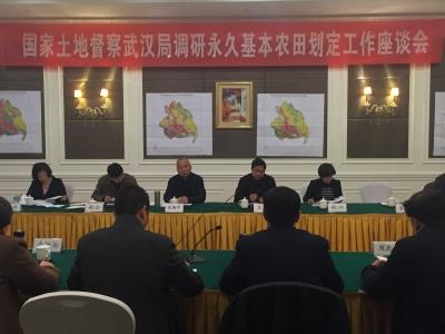 国家土地督察武汉局来随调研永久基本农田划定工作
