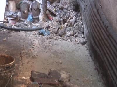 下水道排污超负荷  居民生活难忍受