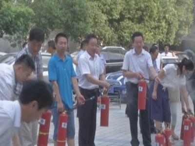 随州工商银行开展消防实战演练