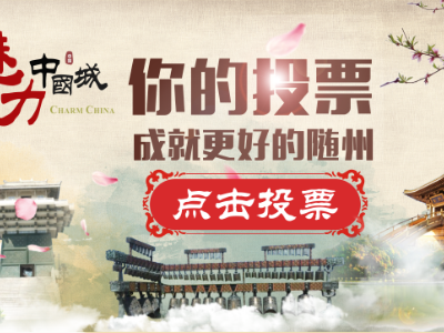请每天投票支持随州竞选《魅力中国城》!
