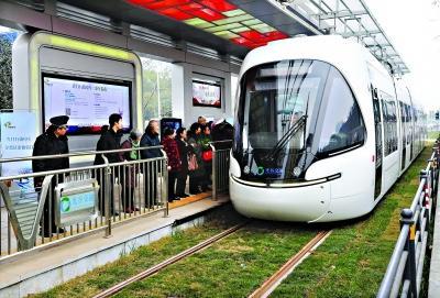 光谷有轨电车2元可坐全程 首批投入25列车运营将覆盖WIFI