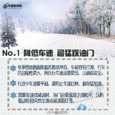 实用贴!雪后路面结冰这样开车才安全!