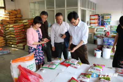 湖北省种子管理局吴和明副局长到随州市督导春播种子市场监管工作