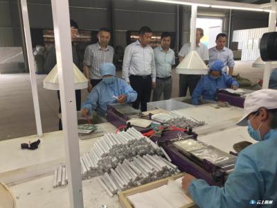 刘泽富一行到淮河西湾村等地调研中药材产业发展情况