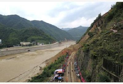 宝成铁路水害抢险已持续100多个小时 清理塌体19400立方米
