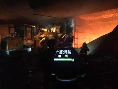 广西融安一烟花爆竹店爆炸失火致5人死亡
