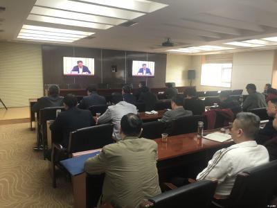 曾都区组织收听收看省、市非洲猪瘟防控工作电视电话会