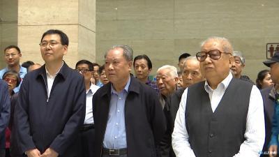 省委原书记蒋祝平、省人大原副主任邓道坤等老领导一行来到我市参观考察