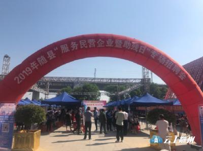 """随县举办2019年""""服务民营企业暨助残日""""专场招聘会"""