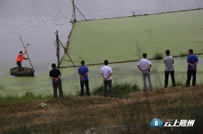 """市水产局组织人员在府澴河流域开展""""清流行动"""""""