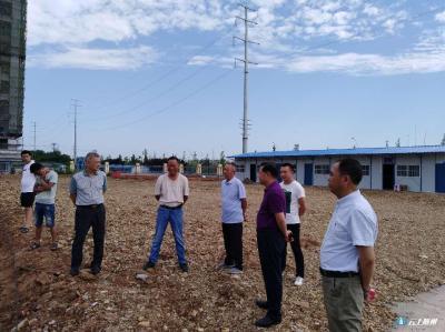 随州市民政局党组实地查看新站项目建设