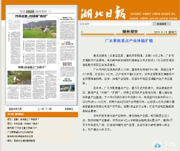 湖北日报点赞|广水聚焦重点产业补链扩链