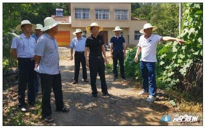 汪海涛带队调研珍珠泉村美丽乡村示范点建设